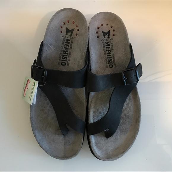 825e16a060874 Mephisto Shoes | Display Sz 8 Helen Black Leather Sandal | Poshmark